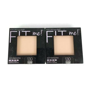 2 Maybelline Fit Me Set Smooth Pressed Face Powder